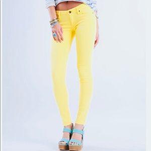 PacSun Bullhead Hermosa Yellow Super Skinny Jeans